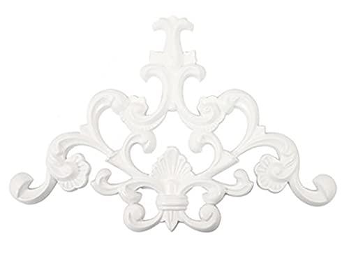 4 개의 새로운 성형 트림 일치 모서리 APPLIQUE ONLAY 코너 프레임 데칼 빈티지 그림 프레임 도어 캐비닛 옷장 홈 가구 장식 공예 (흰색)