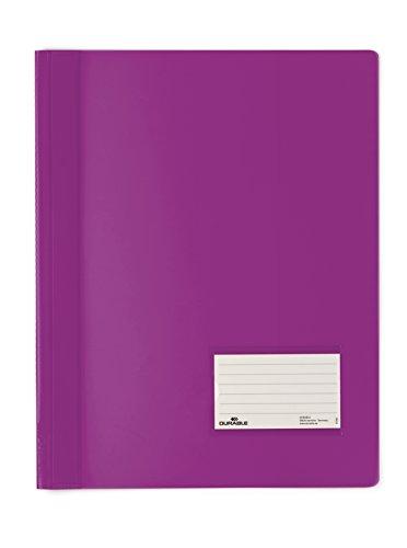 DURABLE Hunke & Jochheim Schnellhefter DURALUX®, transluzente Folie, für A4 Überbreit, 280x332mm, lila