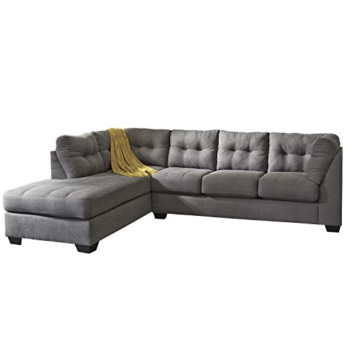 Flash Furniture Benchcraft Maier Sectional with Right Side Facing Chaise in Cocoa Microfiber