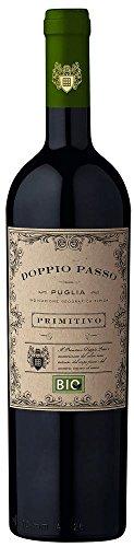 Doppio Passo Bio Primitivo Puglia IGT 2017 - CVCB | halbtrockener Rotwein | italienischer Bio Wein aus Apulien | 1 x 0,75 Liter
