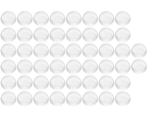 50 transparente Gummifüße, selbstklebende Pufferpads für Schranktür, Schalldämpfende Pads für Haushalt, Tür, Küche, Bad, 8 x 3.5mm