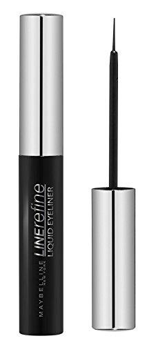 Maybelline Liquid Eyeliner, Flüssig-Eyeliner im handlichen Stift-Format, mit Präzisionsspitze für einen einfachen und exakten Lidstrich, pflegend, 5,5 ml, black