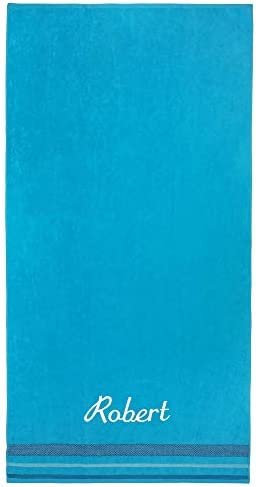Kaufman Personalized Oversized 35 X 70 Solid Color Velour Super Soft Beach and Pool Towel Easy product image