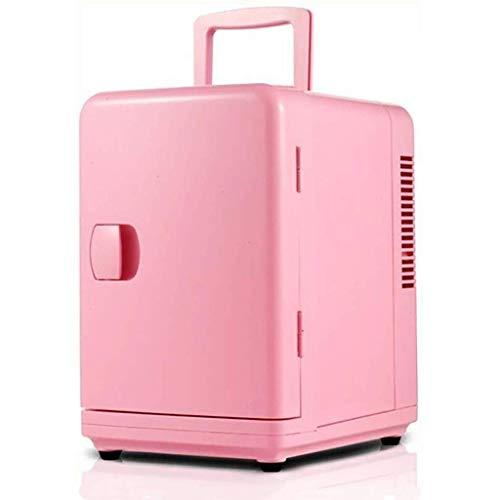 Multifunctionele koelkast, stille desktop minibar 6L autokoelkast mini-borstcosmeticakoelkast naar huis reizen (kleur: B)