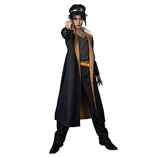 Cosfun Jotaro Kujo Cosplay Long Jacket Coat Costume mp005609 (Small)
