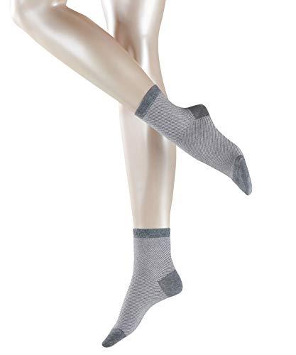 ESPRIT Damen Socken Diagonal, 80{61353c4d7941bb51531798a2c331d5fc79f3032a1d5772f84213505674f6cc7b} Baumwolle, 1 Paar, Grau (Light Grey Melange 3390), Größe: 39-42