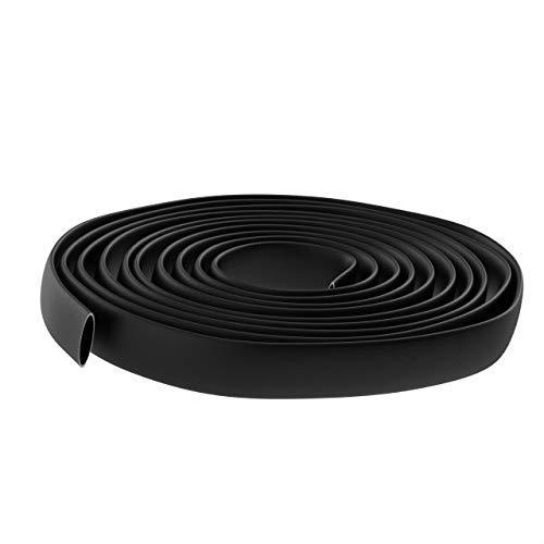 AUPROTEC Guaina Termorestringente nero 1m - 20m Tubo Termoretraibile per Cavi: 16.0 mm Ø int. 5/8' 1m metro