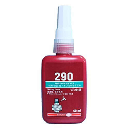 GUMEI 50ml de Alta Resistencia 290 Adhesivo anaeróbico Tornillo de Metal Pegamento de fijación de curado rápido