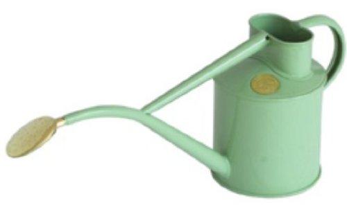 Haws gieter voor binnen, metaal, 1 liter, met douche en geschenkdoos grijsgroen