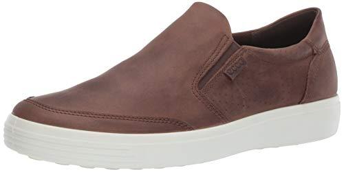 ECCO Men's Soft 7 Slip-On Sneaker, Cocoa Brown Oil Nubuck, 45 M EU (11-11.5 US)