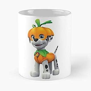 Paw Patrol Marshall Halloween Classic Mug - The Funny Coffee Mugs For Halloween, Holiday, Christmas Party Decoration 11 Ounce White Jamestrond.