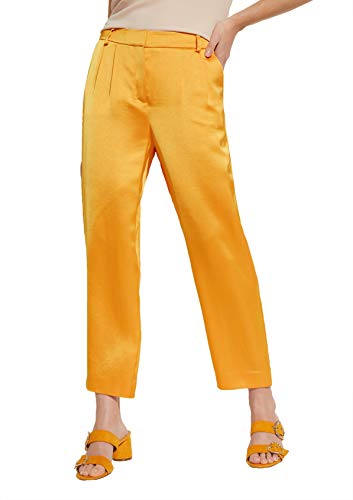 comma Damen Relaxed Fit: Wide Leg-Hose aus Satin Honey 38