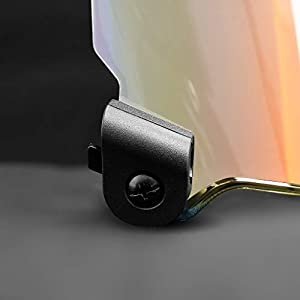 EliteTek Football Facemask Visor - Color Tinted Eye-Shield for Football Helmet - Clear Orange