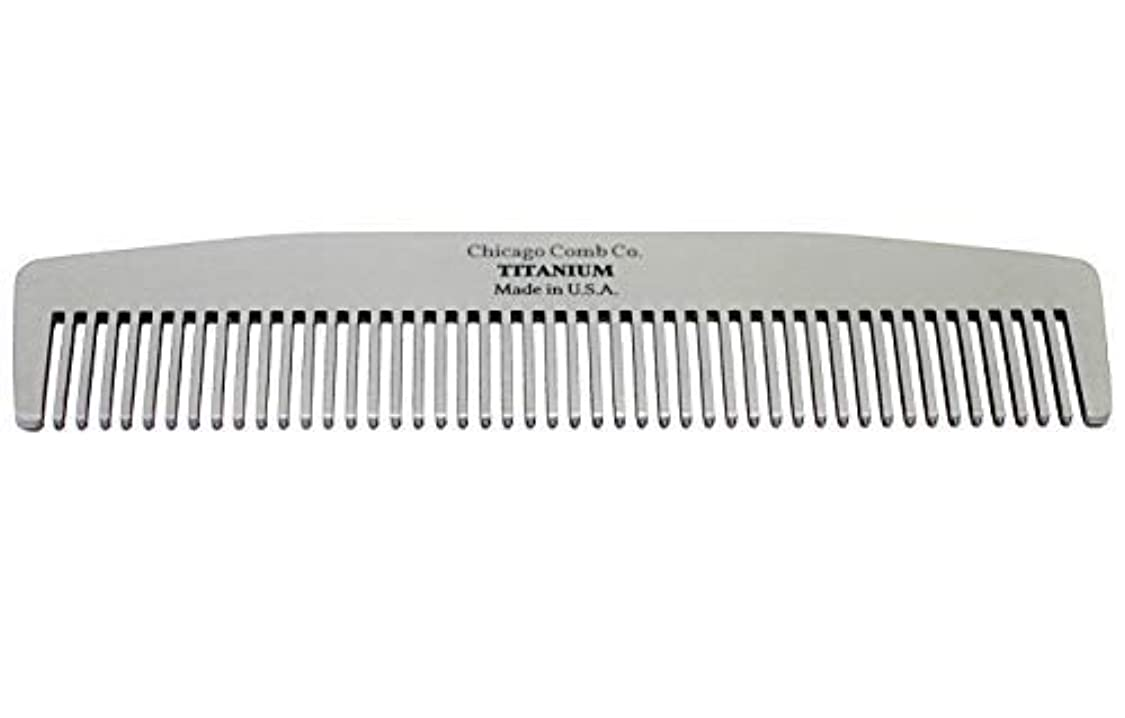 恨み洞察力騙すChicago Comb Model No. 3 Titanium, Made in USA, Ultra-Smooth, Strong, Light, Anti-Static, 5.5 in. (14 cm) Long, Medium-Fine Tines, Ultimate Daily Use, Pocket, Travel Comb, Pure American Titanium [並行輸入品]