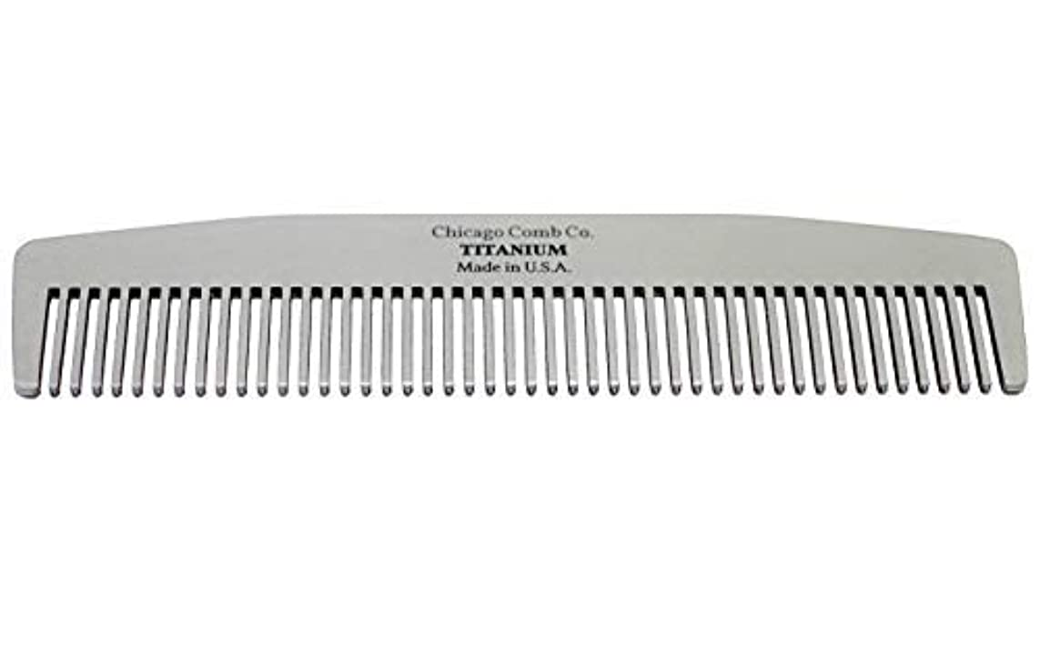 場所ミンチ真っ逆さまChicago Comb Model No. 3 Titanium, Made in USA, Ultra-Smooth, Strong, Light, Anti-Static, 5.5 in. (14 cm) Long, Medium-Fine Tines, Ultimate Daily Use, Pocket, Travel Comb, Pure American Titanium [並行輸入品]