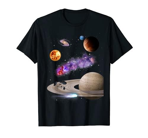 Espacio Galaxia Motivo Sol Universo Sistema Solar Planeta Camiseta