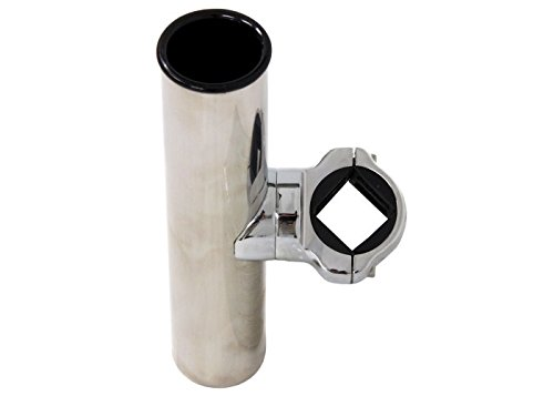 CE Smith Pontoon Square Rail Adjustable Clamp-On Rod Holder-Replacement Parts...