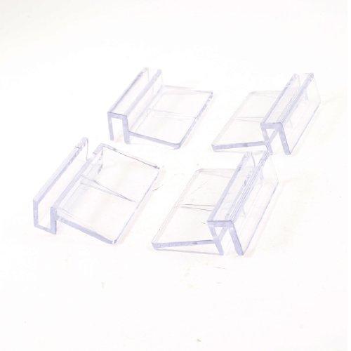 Aexit Halteklammer für Haustier Glasabdeckung, für Aquarien, Aquaristik 6mm, 4er-Pack