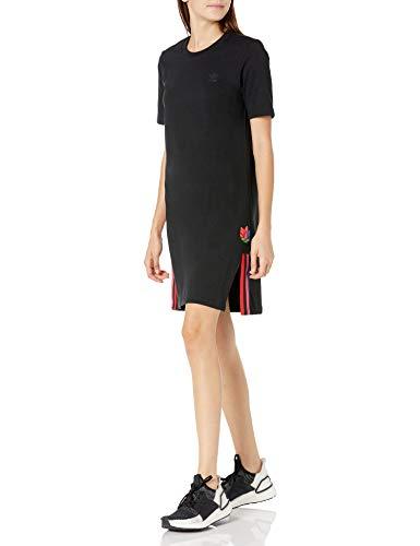 adidas Originals Damen Dress Kleid, schwarz/schwarz, X-Klein