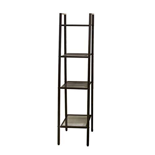 ZHANYI Trapezoidal Rack Industriële Ladder, 4-Tier Boekenplank, Metalen Berging Rek Unit, Badkamer, Levende, Keuken Pantry Closet,Bearing Sterke Mode Decoraties, Sterke Lager Capaciteit.zwart