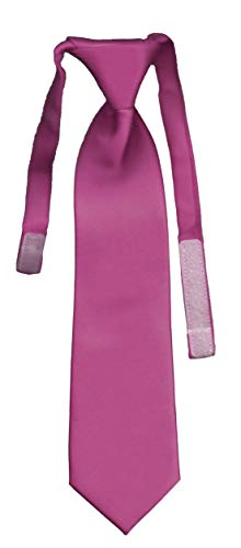 Cravate enfant unie solid fuchsia VII