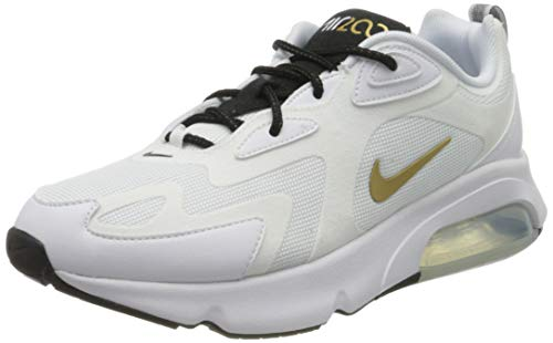 Nike Herren AIR MAX 200 Traillaufschuhe, Mehrfarbig (White/Metallic Gold-Black 102), 42.5 EU