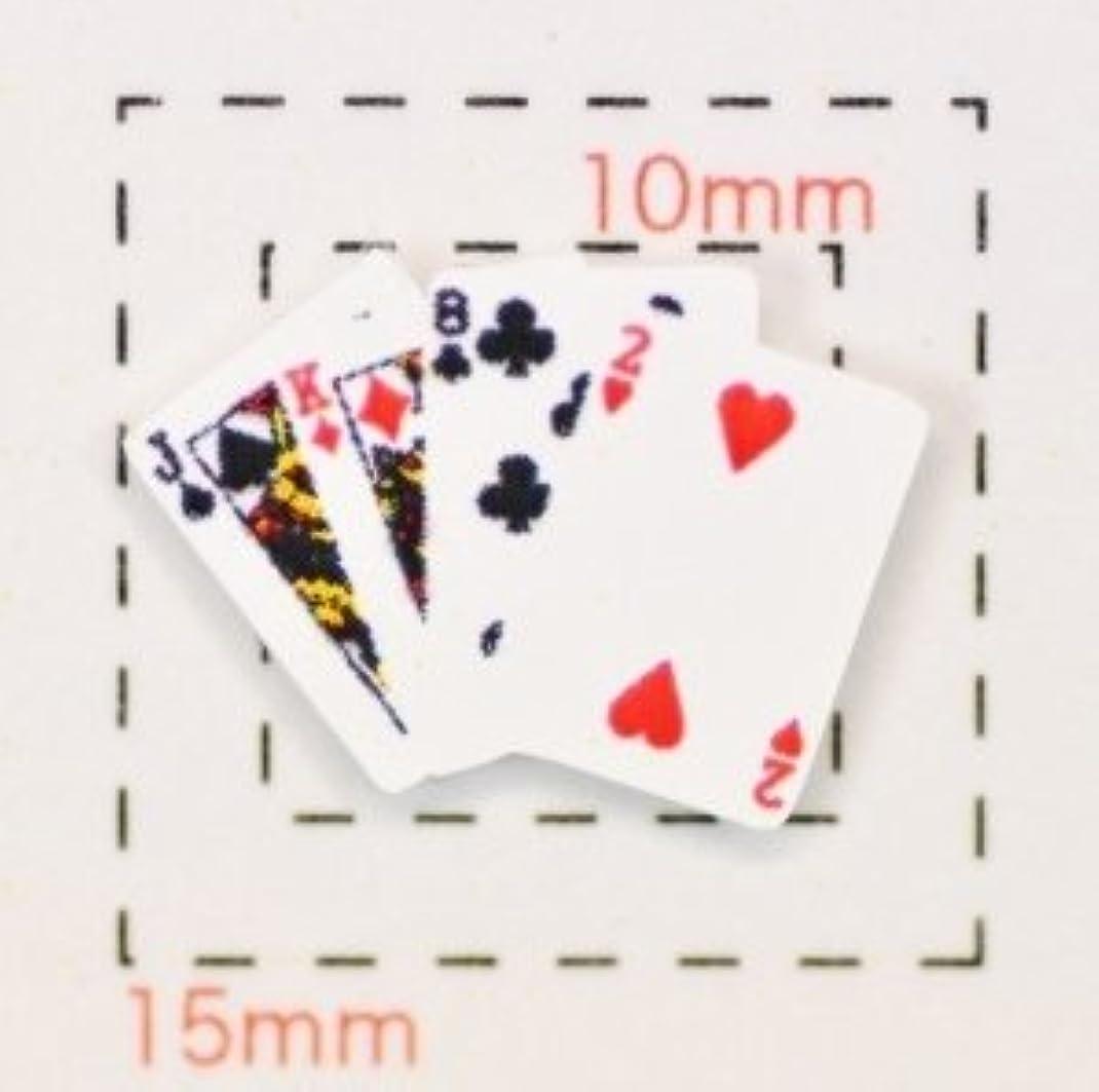 美徳思いやりのあるラフ【トランプネイルシール】カード(3)4枚重ね1シート4枚入