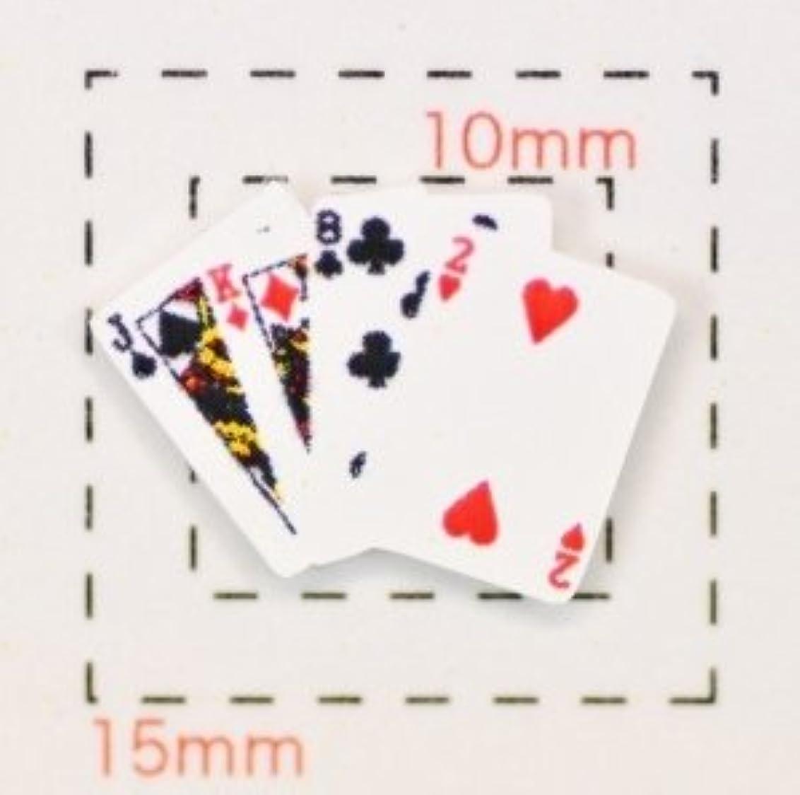支払うミキサー未来【トランプネイルシール】カード(3)4枚重ね1シート4枚入