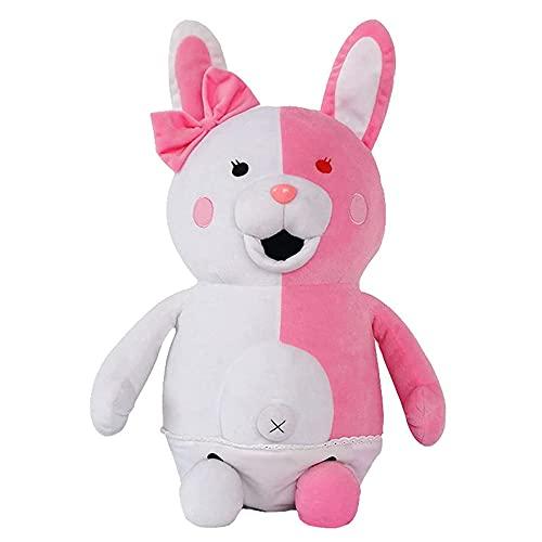 Anime Plush Monomi Plüschtier Danganronpa Figur Rosa Weiß Kaninchen Plüschfigur Plüschtierpuppe Anime Kuscheltier Spielzeug Geschenke für Kinder Freunde Weihnachten Geburtstag (35cm)