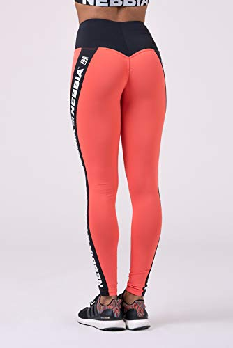 Nebbia, Power Your Hero iconic leggings, scrunch butt effect, contrasting high waist, elastic and flexible material, color Peach, size S