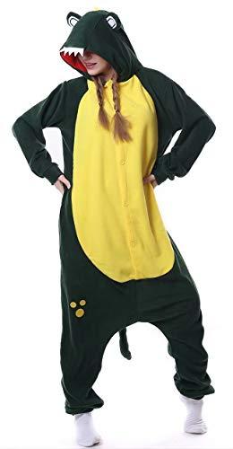 Dorliki Pijama para Adultos Cosplay Disfraz de Animal para Halloween Navidad Ropa de Dormir Cocodrilo M