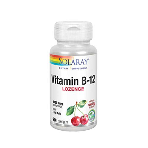 Solaray Vitamin B-12 + Acido Folico - 90 tabls. sublinguales