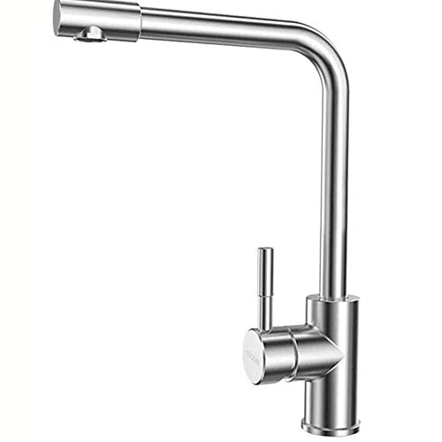 DJY-JY Cuenca grifo 304 acero inoxidable cepillado cocina caliente y frío universal giratorio fregadero lavabo grifo baño grifos cocina