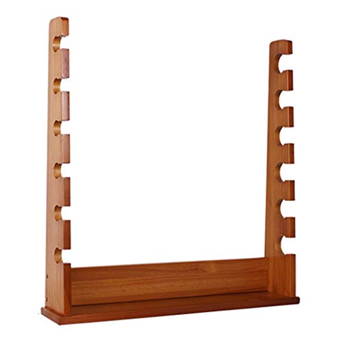 Angelrutenbeutel Angelrutenhalter Lagerregal Für Angelruten Mit 6 Positionen An Der Wand Montiertes Display-Rack Massivholz Wandbehang Regal (Color : Brown, Size : 56 * 57.5 * 10cm)
