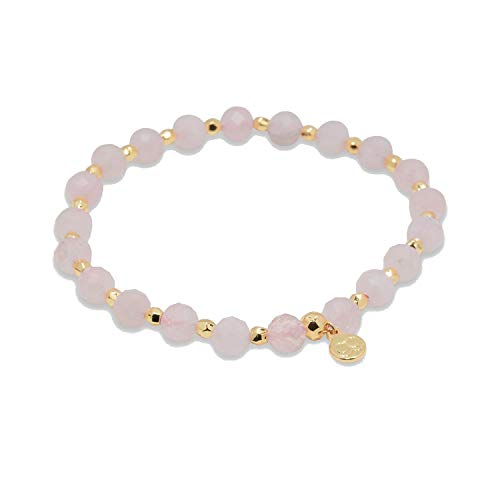 gorjana Women's Power Beaded Elastic Bracelet for Love, 18K Gold Plated
