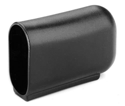 4 Fussstopfen Gleiter Kappen Abdeckkappen Oval für Tischbeine, Kunststoff, Schwarz (40 x 20 mm)