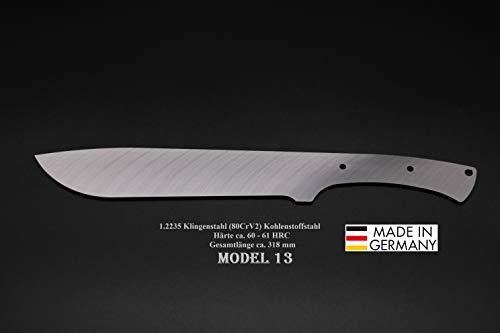 Rohling Messer Model 13 / 318mm Poliert Messerbau Messerstahl Messerklinge Klingenrohling Jagdmesser