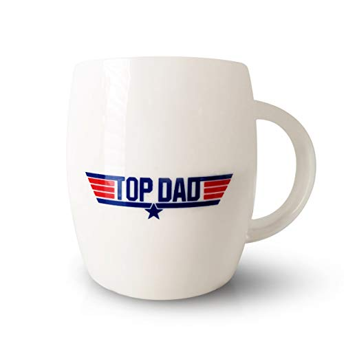 Coffee Mug for Dad Grandpa, Top Father's Day Holiday Christmas Birthday Gift for Papa Grandfather Fun Novelty Cups for the Gun Movie Marine Military Air Force Men Presents for Him (DAD)
