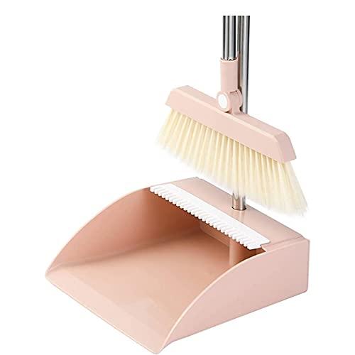 XKEA Groom and Dustpan Set con manico lungo girevole per ufficio home home hall lobby uso del pavimento