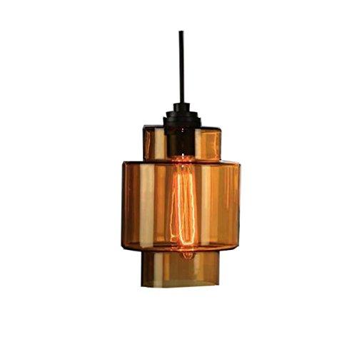 Lampe De Fixation Pour Eclairage De Plafond Suspendu En Verre Coloré à 1 Lumière