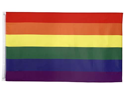 FlagScout - Regenbogen Flagge LGBT | 90 x 150 cm | Flaggen mit top Qualität, hochwertiger Verarbeitung und kräftigen Farben