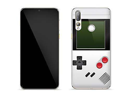 etuo Hülle für HTC Desire 19 Plus - Hülle Fantastic Hülle - Weißes Game Boy Handyhülle Schutzhülle Etui Hülle Cover Tasche für Handy