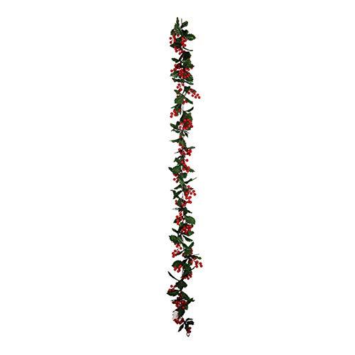 GGDMLJH Kunstmatige nep bloem Kunstmatig Rood Fruit Rotan Bladeren Home Decor Bruiloft Decoratie Planten Kunststof Groen Lange Wijnstok Nep Gebladerte Kerstfeest Zonder Licht