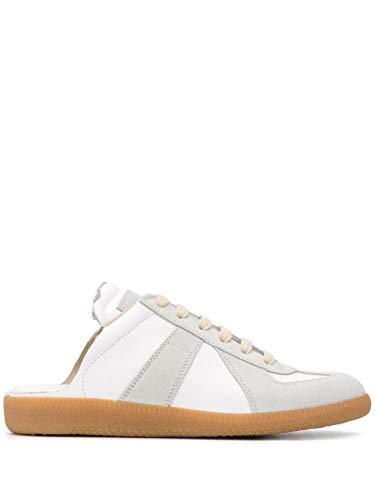 Maison Margiela Luxury Fashion Damen S58WS0107P1895T1016 Weiss Leder Sneakers   Ss21