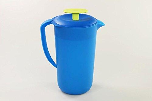 TUPPERWARE Natura Blossom 2,1 L blau limette Saft Kaffee Kanne mit Deckel