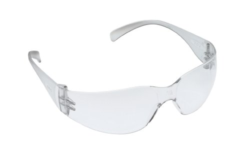 3M Safety Glasses, Virtua, 20 Pair, ANSI Z87, Anti-Fog Scratch Resistant Clear Lens, Clear Frame, Wraparound Coverage