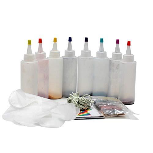 FORYOURS Batik-Set DIY Textilfarbe Tie Dye Kit 8/18 Lebendige Farben Textilfarben Sicher Ungiftig DIY Fashion Dye Kit Mit Gummibändern Handschuhe DIY Kleidung Zubehör Für Kinder Und Erwachsene