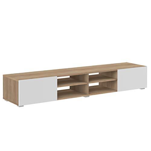 Amazon Marke -Movian Lijoki - TV-Board, 185x42x31cm (L x T x H), Eiche und Weiß