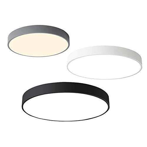 12W Deckenleuchte LED Deckenlampe Ultra dünn runde Leuchte Warmweiß 3000k für Küche Diele Schlafzimmer 23 x 23 x 5 cm (Weiß)