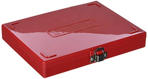 VWR 82003-410 Microscope Slide Boxes, 100-Place, 22.2 cm Length, 17.1 cm Width, 3.3 cm Height, Red (Pack of 1)